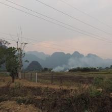 Farm fire