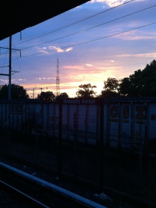My metro stop for work, which has been rewarding my late hours with some pretty awesome sunset views.