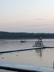 A peaceful sunset on Pleasant Lake, Otisfield ME