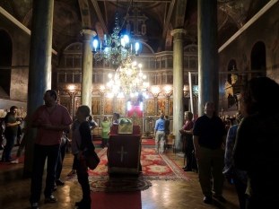 At the Orthodox church in Tetovo