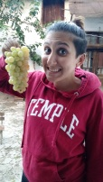 Miranda and the deliiiiicious grapes