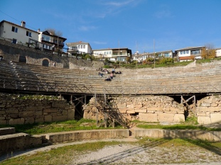 Ancient amphitheater in Ohrid