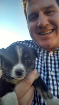 Kyle and the farm puppy!