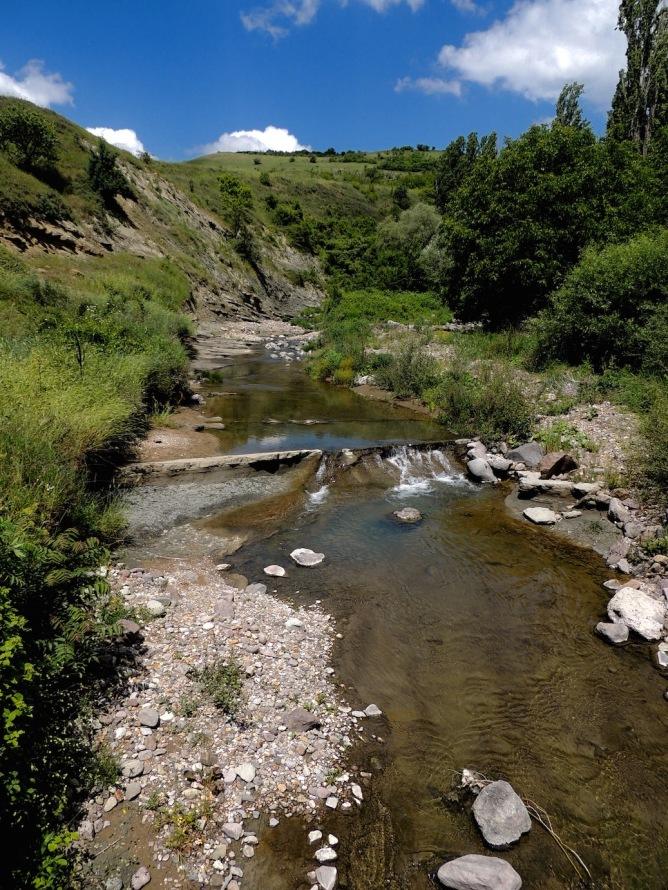 The stream that runs through the village