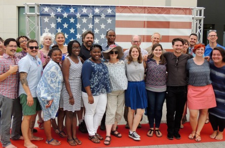 Peace Corps Volunteers and staff at the embassy picnic