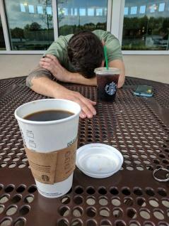 Rest stop coffee break