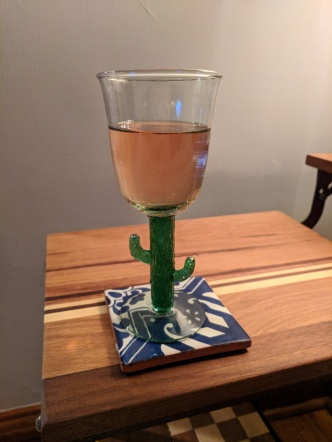 I found cactus wine glasses at a thrift shop and had to have them.