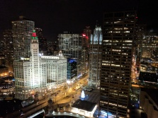 We visited out friend Laura who had a room in the Hyatt downtown, with a pretty amazing view.