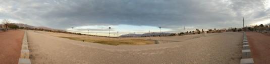 Morning run around the reservoir in Vegas