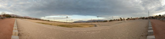 Morning run around the reservoir in Vegas