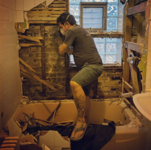 Gutting the bathroom