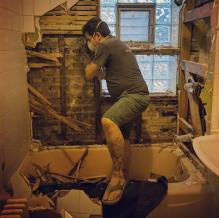 Gutting the bathroom